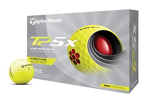 TaylorMade Unisexe TP5X Balles de Golf Jaune, Taille Unique