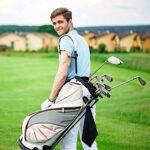 ysister 2 Pièces Serviette de Golf, Serviette De Golf en Microfibre avec Clip, Serviette de Nettoyage pour Golf, pour Les Sports de Fitness en Plein air Yoga Golf Course