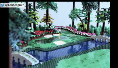 Augusta National, hål 12 i Lego.