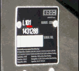 ezgo serial plate - FAQ - EZGO Serial Number Guide