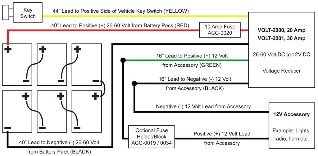 VOLT 2000 and VOLT 2001_Basic Wiring Diagram_Rev050615?resize=665%2C327&ssl=1 ezgo golf cart wiring diagram wiring diagram for ez go 36volt ez go golf cart wiring diagram for lights at n-0.co