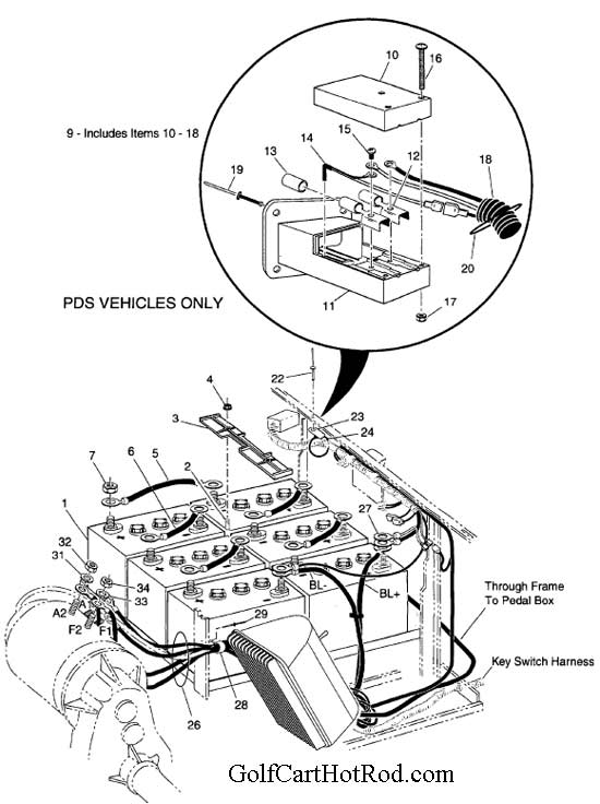 1997 Bmw 528i Cooling System Diagram besides Basic Ezgo Electric Golf Cart Wiring And Manuals 12 additionally 2006 Hyundai Santa Fe Diagram Showing Brake Line as well Forum posts also WUD1A. on wiring lights