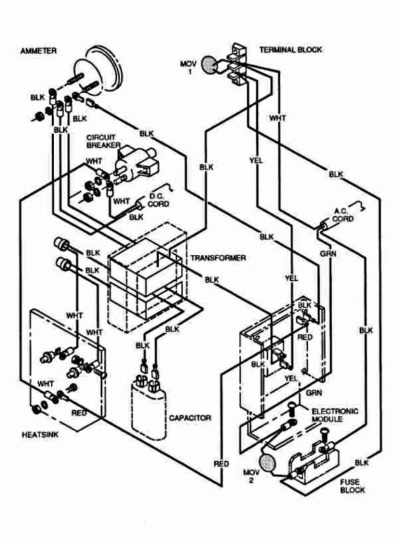 Ez Golf Cart Charger Wiring Diagram