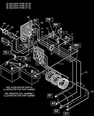 Wiring Diagram Image For 198393 EZGO Resistor Cart To