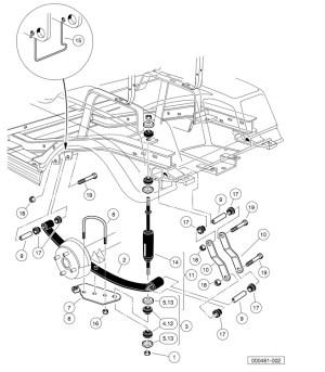 REAR SUSPENSION – ELECTRIC  Club Car parts & accessories