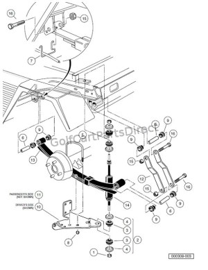REAR SUSPENSION COMPONENTS – TURFCARRYALL 252 AND 2 XRT