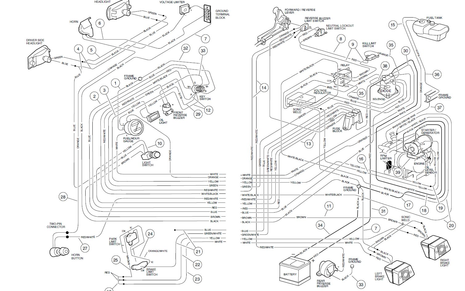 Club Car Parts Diagram Wiring Schematic