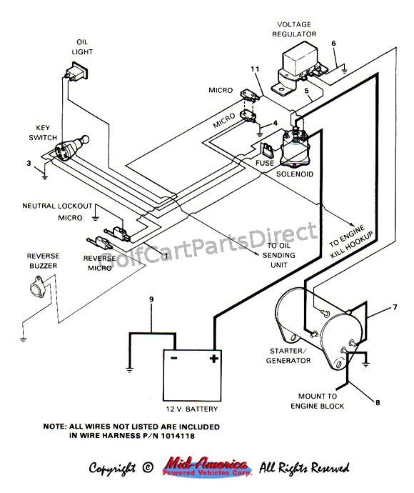 printable 99 ez go gas golf cart wiring diagram golf cart