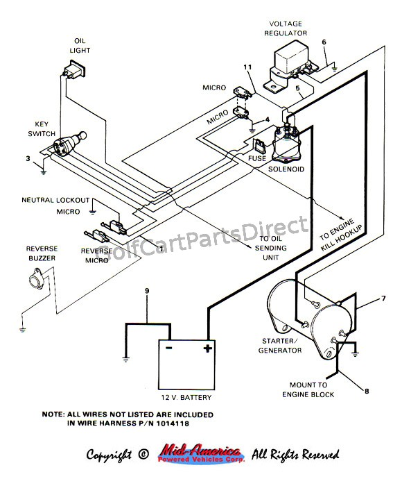 Golf Cart Solenoid Wiring Diagram on 1997 ez go wiring diagram