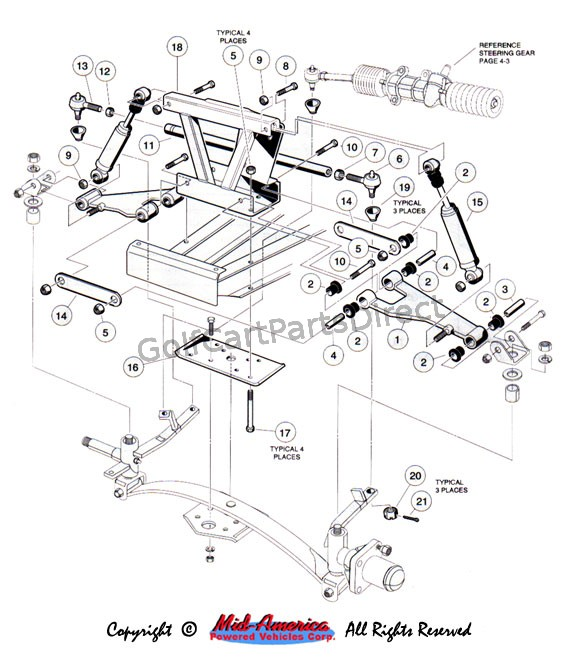 Yamaha Gas Golf Cart Parts Diagram