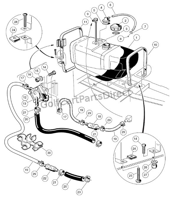 2005 Gas Club Car Wiring Diagram Club Car Golf Cart Parts Wiring