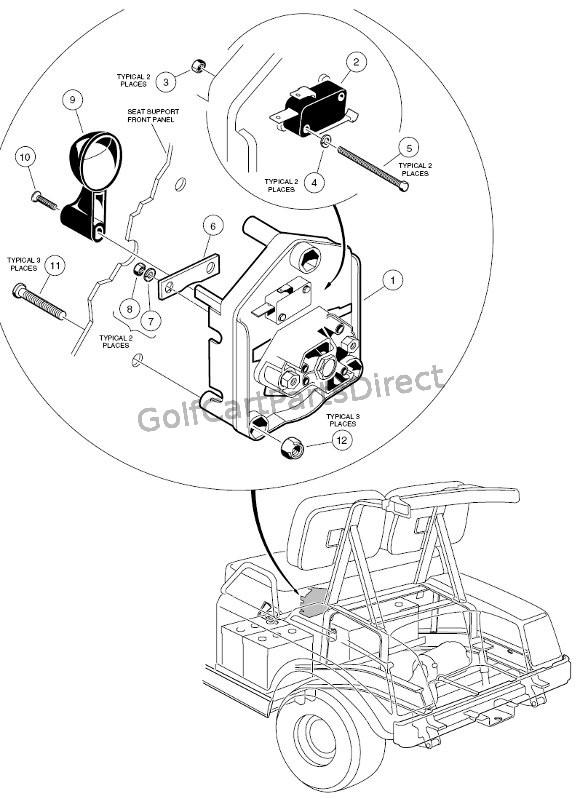 2000 Clubcar 48 Volt Wiring Diagram  Auto Electrical Wiring Diagram
