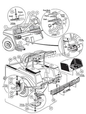 20002005 Club Car DS Gas or Electric  Club Car parts & accessories
