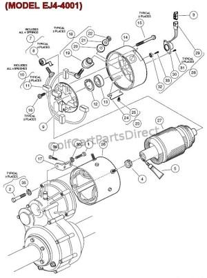 Electric Motor  (MODEL EJ44001)  GolfCartPartsDirect