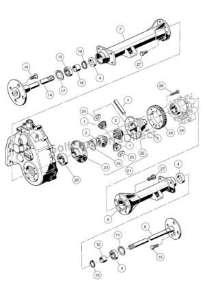 Transaxle  Gasoline, Differential & Axles  Club Car parts & accessories