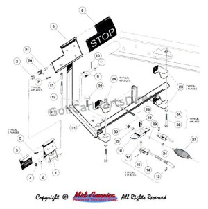 19921996 Carryall 1, 2 & 6 by Club Car  Club Car parts & accessories
