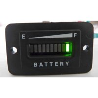Automotive Authority LLC® Battery Indicator - Solar Panel or Golf Cart 12/24 Volt