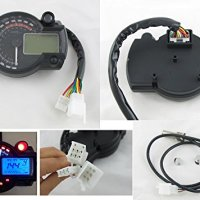 260 km/h LCD Digital Speedometer Tachometer Odometer Motorcycle EFI Mph Km/h 14000 rpm