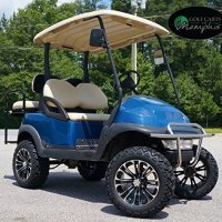"Club Car Precedent Golf Cart 6"" Lift Kit + 14"" Vector Wheels and 23"" All Terrain Tires (4)"