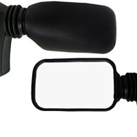Adjustable Sideview Wing Mirror For Golf Cart Club Car Ezgo Yamaha Vw Buggy Rail