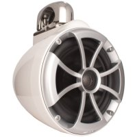 Wet Sounds ICON Series 8 inch Wakeboard Tower Speakers - White w/ Fixed Clamp