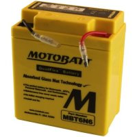 Motobatt MBT6N6 6V 6Ah Motorcycle Battery Replaces 6N6-3B