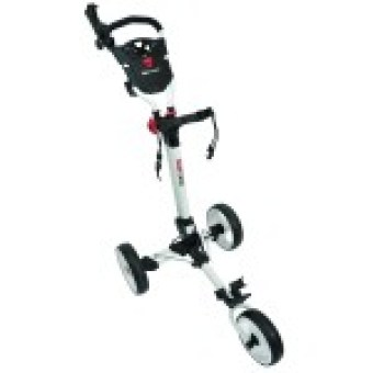 Orlimar 2015 Bullit Click 3 Wheel Golf Push Cart, White