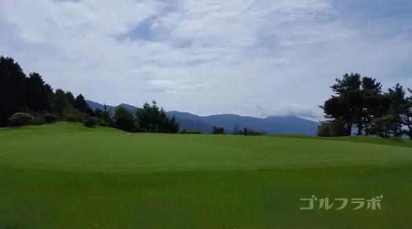 凾南ゴルフ倶楽部の14番ホールのグリーン