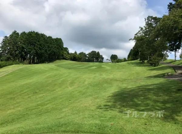 凾南ゴルフ倶楽部の3番ホールのレディースティ