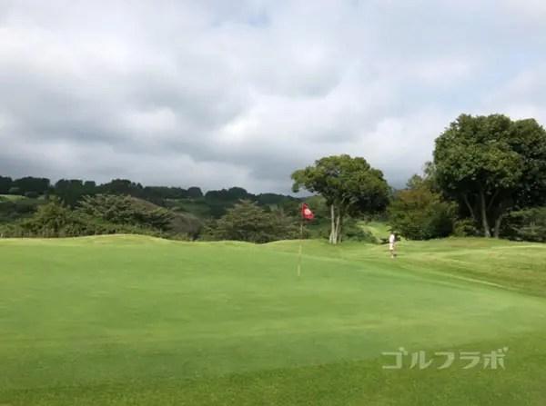 凾南ゴルフ倶楽部の9番ホールのグリーン