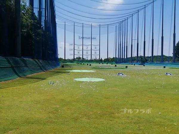 ゴルフパートナー桜土浦インター練習場のドライビングレンジ