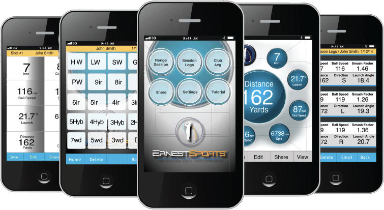 Golf Entfernungsmesser Iphone App : Ernest sports es pro launch monitor golflaser
