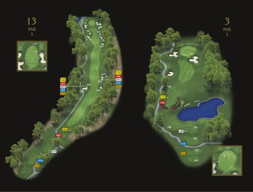 T2Green Course Guides   Golf Yardage Guides   3D Illustrations   Home Golf Course Books