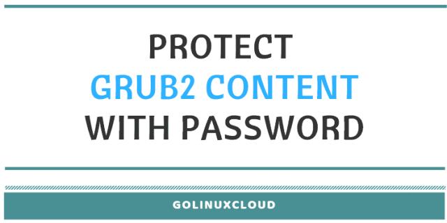 set up root password using grub2 setpassword rhel7