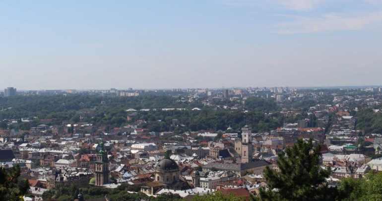 Uitzicht castle hill lviv