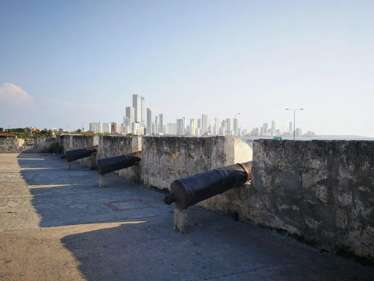 City wall Cartagena Colombia