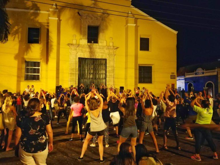 Dancing in Getsemani Colombia