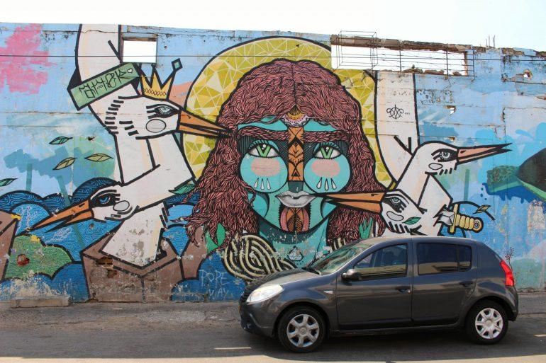 Head street art Getsemani Cartgena