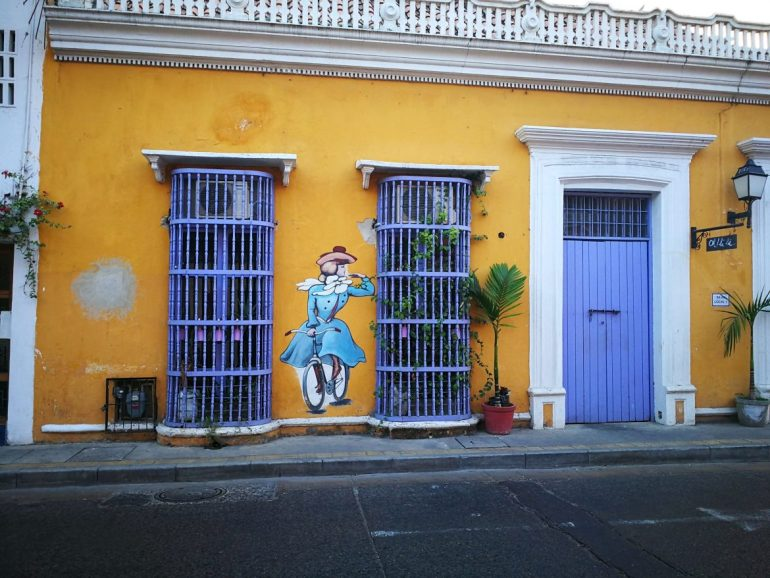 Street art Getsemani house