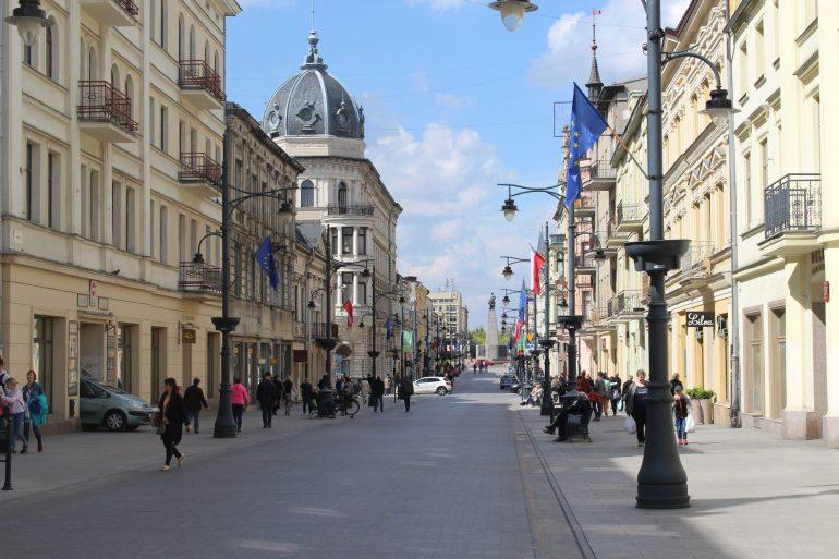 Lodz Piotrowska street wereldreis