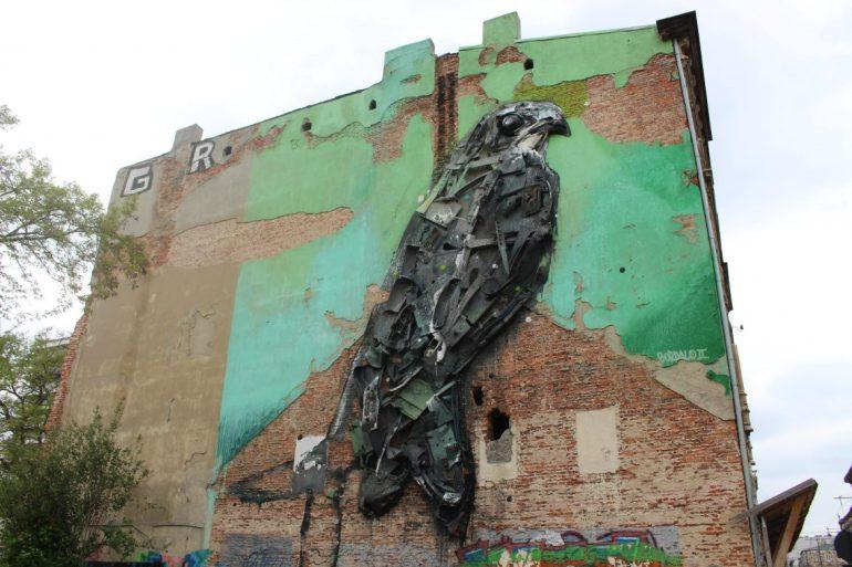 Lodz Street art Polen wereldreis