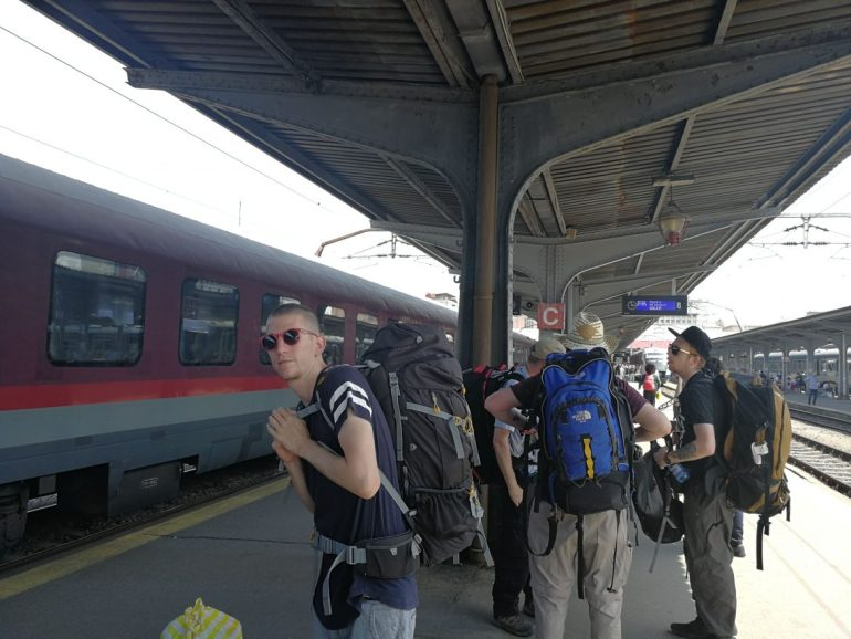 Trein Bucharest wereldreis
