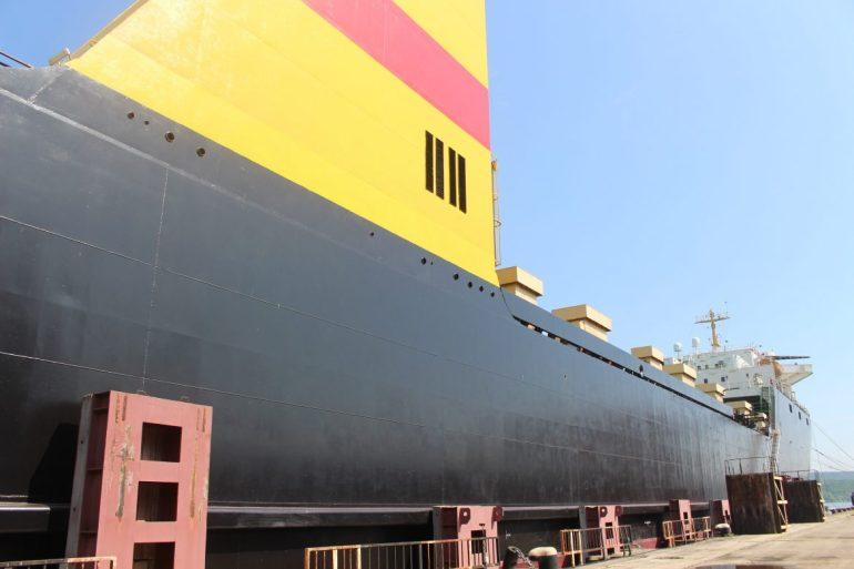 Vrachtschip Bulgarije Georgie wereldreis