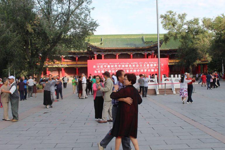 Urumqi parkleven China wereldreis