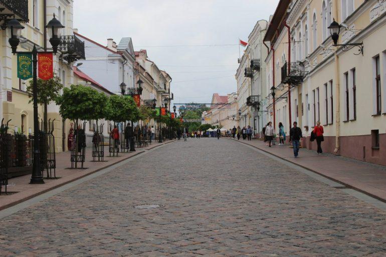 sovetskaya street walking street Grodno