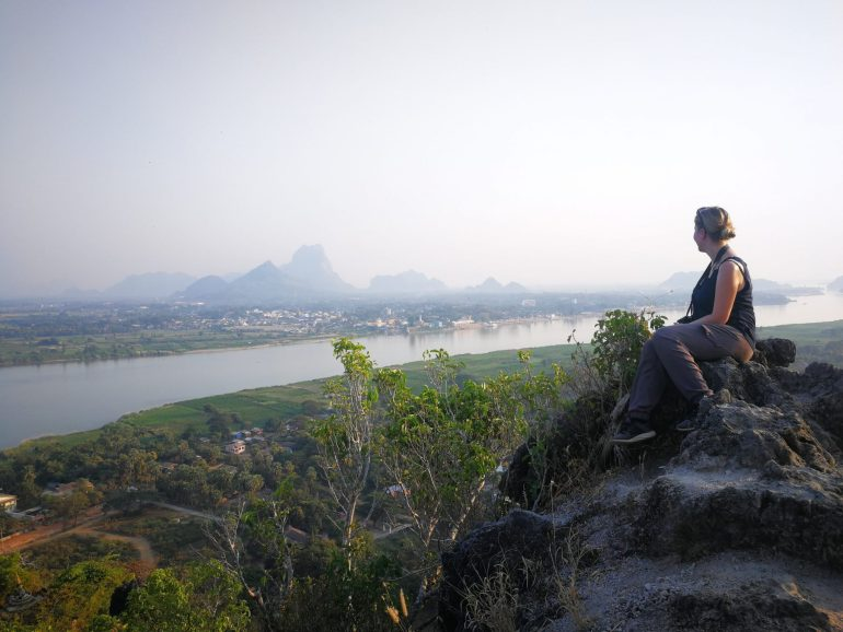 Hpa An Myanmar view mountain