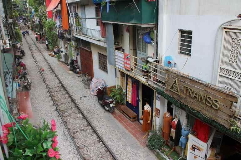 Hanoi things to do Hanoi Train Street