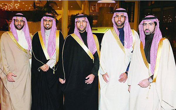 ناصر بن سلطان بن ناصر يحتفل بزواجه من كريمة تركي بن فهد