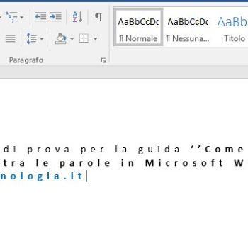 Microsoft Word come aumentare la spaziatura tra le parole