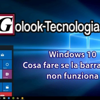 Windows 10 la barra start non funziona